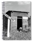 1950s Cocker Spaniel Puppy In Doghouse Spiral Notebook