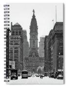 1950s Downtown Philadelphia Pa Usa Spiral Notebook