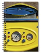 1950s Hot Road Dashboard At Antique Car Spiral Notebook