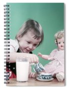 1950s Little Girl Toddler And Baby Doll Spiral Notebook
