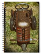 1950s Yard Hand Tractor Spiral Notebook