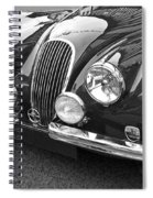 1951 Jaguar Xk120 In Black And White Spiral Notebook