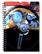 1951 Mg Td Dashboard Spiral Notebook