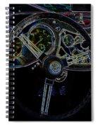 1951 Mg Td Dashboard_neon Car Art Spiral Notebook