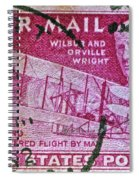 1952 Wright Brothers Stamp Spiral Notebook