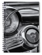 1953 Buick Super Dashboard And Steering Wheel Bw Spiral Notebook