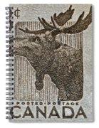 1953 Canada Moose Stamp Spiral Notebook