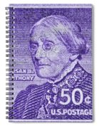 1954-1961 Susan B. Anthony Stamp Spiral Notebook