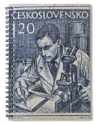 1954 Czechoslovakian Scientist Stamp Spiral Notebook
