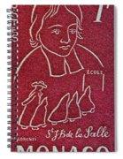 1954 De La Salle Monaco Stamp Spiral Notebook