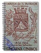 1954 El Salvador Stamp Spiral Notebook