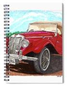 1954 M G T F  Spiral Notebook