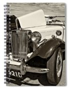 1954 Mg Td Sepia Spiral Notebook