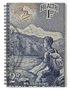 1954 Mount Aspiring New Zealand Stamp Spiral Notebook