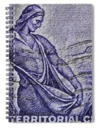 1954 Nebraska Territorial Stamp Spiral Notebook