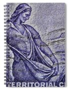 1954 Nebraska Territorial Stamp Spiral Notebook