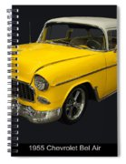 1955 Chevy Bel Air Harvest Gold Spiral Notebook