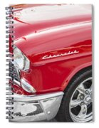 1955 Chevy Cherry Red Spiral Notebook