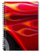 1955 Chevy Pickup With Flames Spiral Notebook