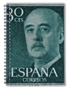 1955 General Franco Spanish Stamp Spiral Notebook