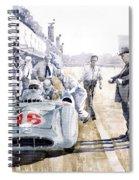 1955 Mercedes Benz W 196 Str Stirling Moss Italian Gp Monza Spiral Notebook
