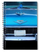 1956 Cheverolet In Blue Spiral Notebook