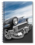 1956 Chevrolet With Blue Skies Spiral Notebook