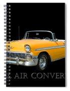 1956 Chevy Bel Air Convertible Spiral Notebook