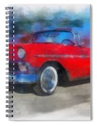 1956 Chevy Car Photo Art 01 Spiral Notebook