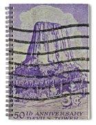 1956 Devils Tower National Monument Stamp Spiral Notebook