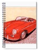 1956 Porsche 356 Cabriolet Spiral Notebook