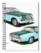 1956 Studebaker Coming And Going Spiral Notebook