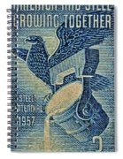 1957 America And Steel Growing Together Stamp Spiral Notebook