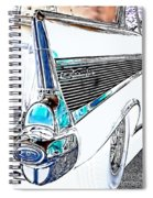 1957 Chevrolet Bel Air Art White Spiral Notebook
