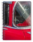 1957 Chevy Bel Air Chrome Spiral Notebook