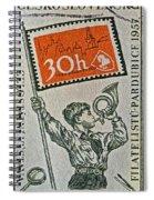 1957 Czechoslovakia Stamp Spiral Notebook