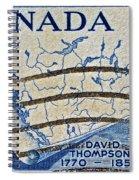 1957 David Thompson Canada Stamp Spiral Notebook