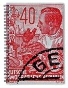 1957 German Democratic Republic Chemist Stamp Spiral Notebook