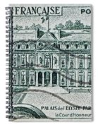 1957 Palais Del Elysee Paris Stamp Spiral Notebook