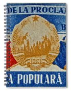 1957 Romanian Coat Of Arms And Flags Stamp Spiral Notebook