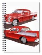 1957 Studebaker Silver Hawk Spiral Notebook