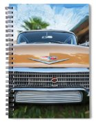 1958 Chevrolet Bel Air Impala Painted   Spiral Notebook