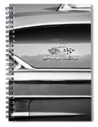 1958 Chevrolet Bel Air Impala Painted Bw  Spiral Notebook