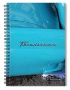 1958 Ford Thunderbird Detail Spiral Notebook