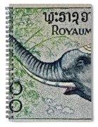 1958 Laos Elephant Stamp II Spiral Notebook