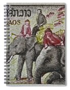 1958 Laos Elephant Stamp IIi Spiral Notebook