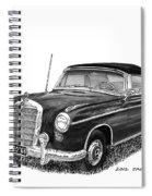 1958 Mercedes Benz 220s Spiral Notebook