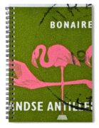 1958 Netherlands Antilles Flamingoes Stamp - Curacao Postmark Spiral Notebook