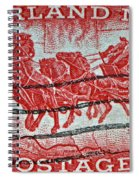 1958 Overland Mail Stamp Spiral Notebook