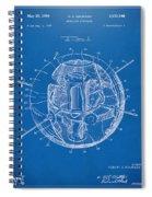 1958 Space Satellite Structure Patent Blueprint Spiral Notebook